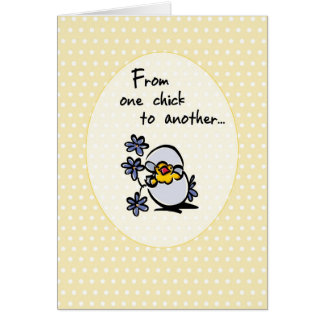 4146 One Chick Easter Greeting Card