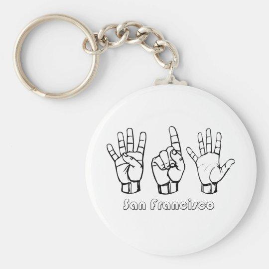 415 - San Francisco Basic Round Button Key Ring