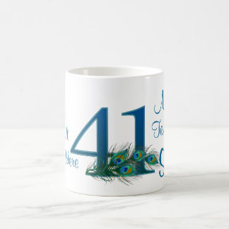 # 41- 41st Wedding Anniversary or 41st Birthday Coffee Mug