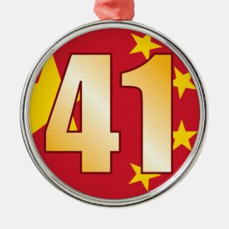 41 CHINA Gold Christmas Ornament