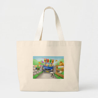 41. driving large tote bag