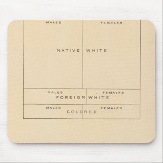 41 Elements of population 1900 Mouse Pad