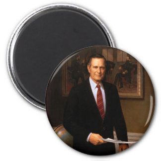 41 George H. W. Bush Fridge Magnet