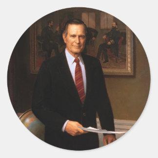 41 George H. W. Bush Round Sticker