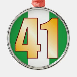 41 NIGERIA Gold Silver-Colored Round Decoration