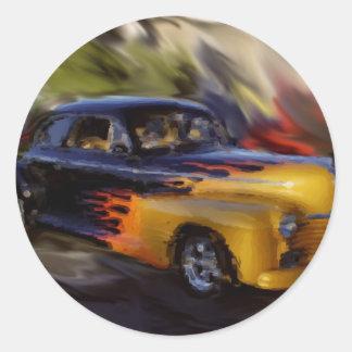 41 Pontiac Round Sticker