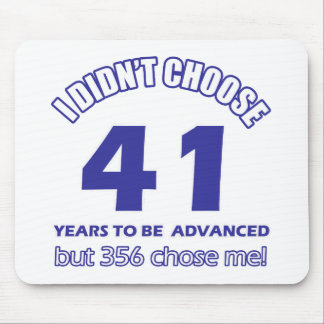 41 years advancement mouse pad