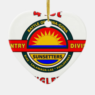 "41ST INFANTRY DIVISION ""JUNGLEERS"" CERAMIC HEART DECORATION"