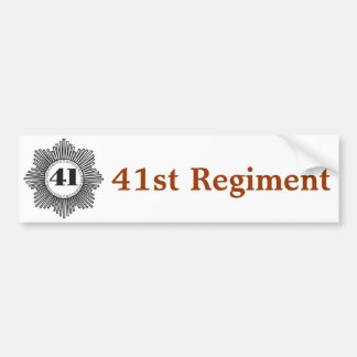 41st Regiment Bumper Sticker