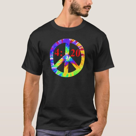 420 Tie Dyed Peace Sign T-Shirt