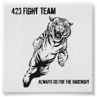 423 Fight Team, Always Go For The Kno... Poster