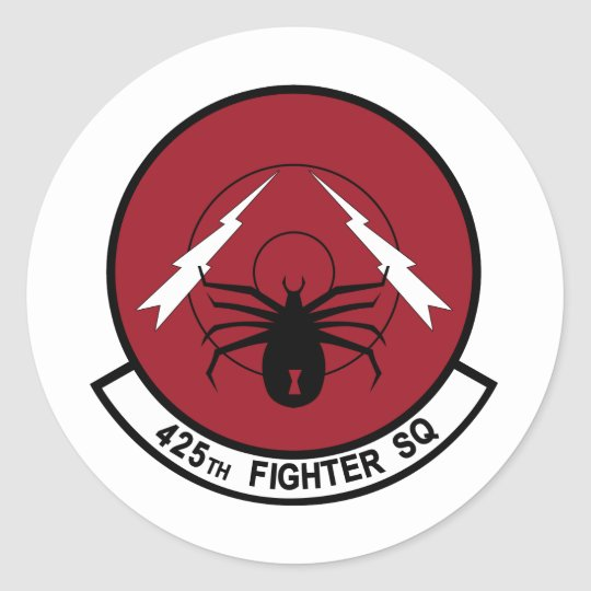 425th Fighter Squadron Classic Round Sticker