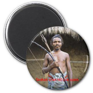 42-16828957, Sankar started for work 6 Cm Round Magnet