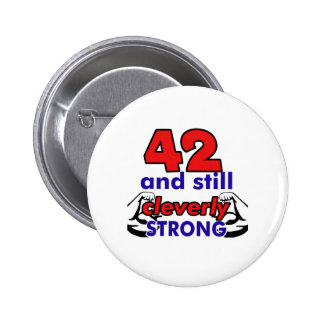 42 Birthday Design 6 Cm Round Badge