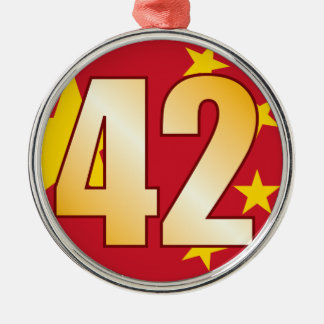 42 CHINA Gold Christmas Ornament