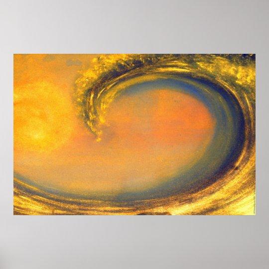42. Golden Wave Poster
