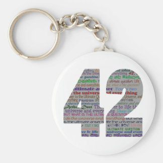 42: Life the Universe and Everything Basic Round Button Key Ring
