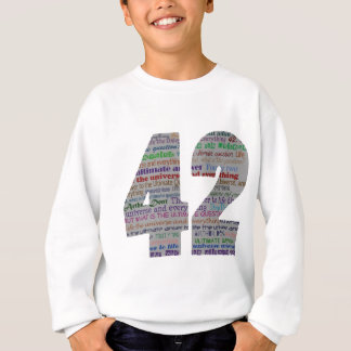 42: Life the Universe and Everything Sweatshirt