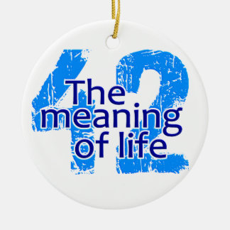 42 Meaning of Life ornament, customizable Christmas Ornament