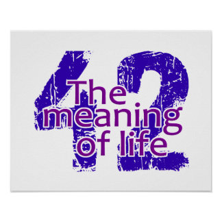 42 Meaning of Life poster, customizable Poster
