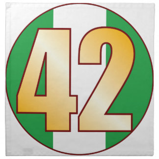 42 NIGERIA Gold Napkin