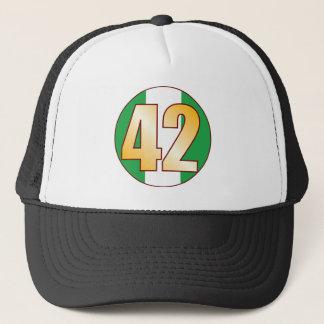 42 NIGERIA Gold Trucker Hat