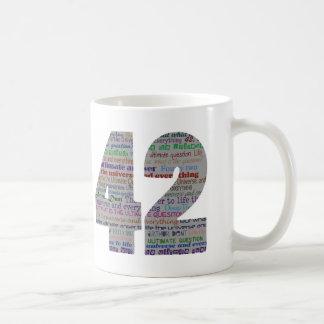 42: The ultimate answer Basic White Mug