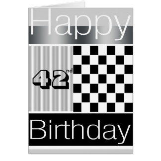42nd Birthday Greeting Card