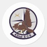 42nd ECS Classic Round Sticker