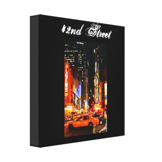 42nd Street 12 x 12 Canvas Stretched Canvas Print
