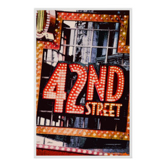 42nd Street contemporary poster