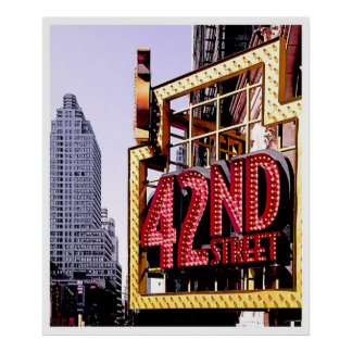 42nd Street, NYC--poster Poster