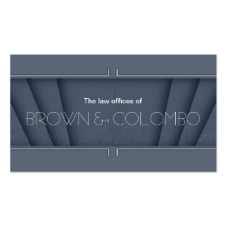 42nd Street - Steel Grey Business Cards