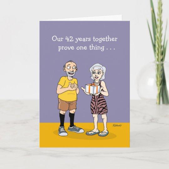 42nd Wedding Anniversary Love Card Zazzle
