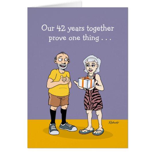 42nd Wedding Anniversary Love Card