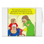 434 Butt crack shirt cartoon Greeting Card