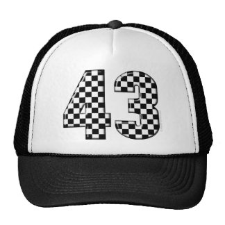 43 checkered number cap