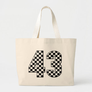 43 checkered number bags