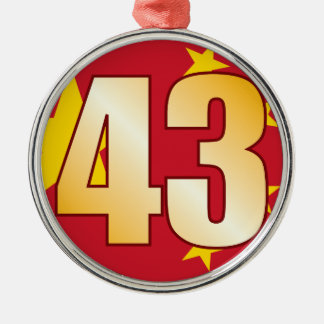 43 CHINA Gold Christmas Ornament
