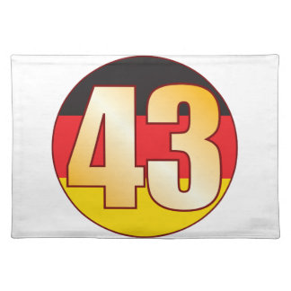 43 GERMANY Gold Placemat