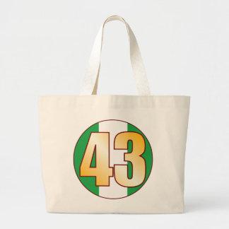 43 NIGERIA Gold Jumbo Tote Bag