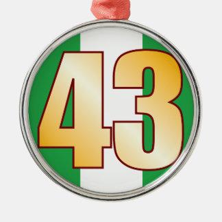 43 NIGERIA Gold Silver-Colored Round Decoration