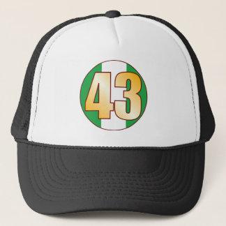 43 NIGERIA Gold Trucker Hat