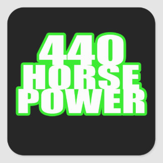 440 hemi green charger square sticker