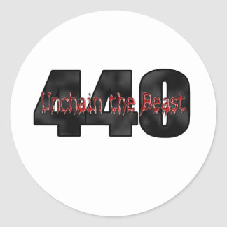 440 Mopar Beast Classic Round Sticker