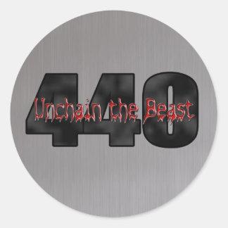 440 Mopar Beast gray Round Sticker