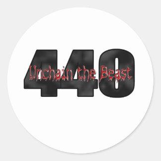 440 Mopar Beast Round Sticker