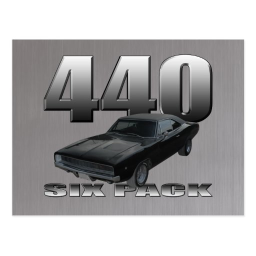 440 six pack dodge charger post cards