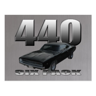 440 six pack dodge charger post card