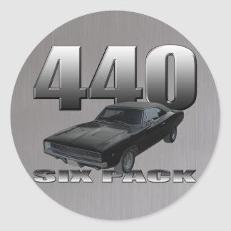 440 six pack dodge charger round sticker